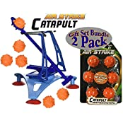 Hog Wild High Tech Medieval Action Air Strike Catapult & Foam Spiked Refill Balls Gift Set Battle Bundle 2 Pack