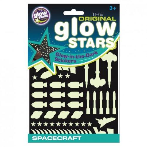 El Glowstars original Glow Compañía en la nave espacial pegatinas Oscuro