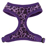 East Side Collection Vibrant Ultra Violet Leopard Dog Harnesses