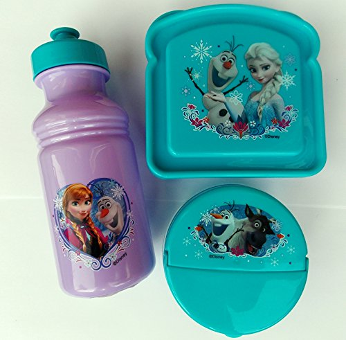 Exclusive Disney's Frozen Featuring Anna, Elsa and Olaf 3-Piece Lunch Box Set - 1
