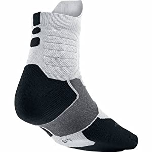 Nike Hyper Elite Basketball High Quarter Socks, Large