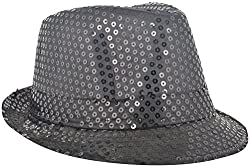 Masti Station Unisex Fedora Party Hat (Fhp05, Black)