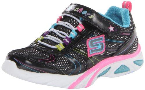 Skechers Kids Lite Gemz Athletic Sneaker (Toddler),Black/Multi,8 M Us Toddler