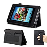 GMYLE(R) Black PU Leather Slim Flip Folio Hand Strap Stand Case Cover for Hisense Sero 7 Pro