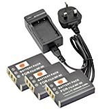 DSTE® (3-pack) NP-95 Rechargeable Li-ion Battery + Charger DC29U for Fujifilm FinePix F30, FinePix F31fd, FinePix Real 3D W1, FinePix X100, FinePix X100LE, FinePix X100S, X-S1 and Compatible with RICOH DB-90, GXR, GXR Mount A12, GXR P10