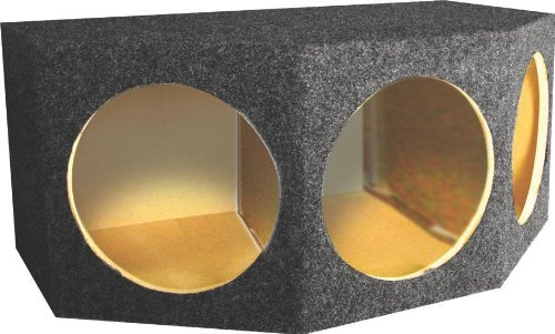 "Qpower Qbass103 Triple 10"" Compact Angled Box Subwoofer Enclosure"