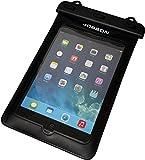 Jobson 【3タッチ防水ボタン仕様×完全密閉防水ケース】 ipad mini 2,3 アイパッドミニ 防水 ケース カバー (6-8inch) 各種 タブレット REGZA tablet,Kindle,Nexus7 対応 スクリーン 画面 操作可能 waterproof case 風呂・海プールで利用可能 JB889 首掛けヒモ付 (ブラック)