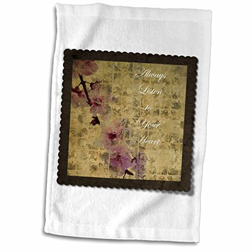 PS Inspirations - Listen To Your Heart Inspired Cherry Blossom Floral - 11x17 Towel (twl_63428_1)