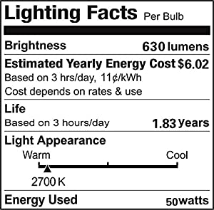 Vstar G8 120V 50W,2700K Warm white,G8 Halogen Light Bulbs(10 Pcs)