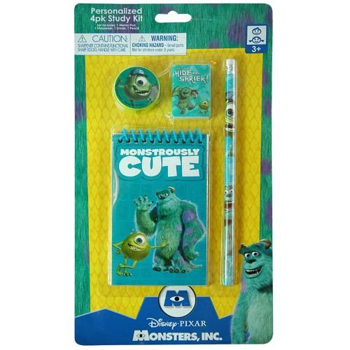 Disney Pixar Monsters University Personalized 4 Piece Study Kit - 1