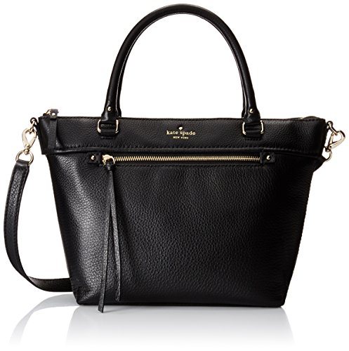 kate spade new york Cobble Hill Small Gina Satchel Bag, Black, One Size