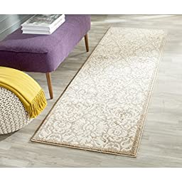 Safavieh Amherst Collection AMT427S Wheat and Beige Indoor/ Outdoor Runner, 2 feet 3 inches by 7 feet (2\'3\
