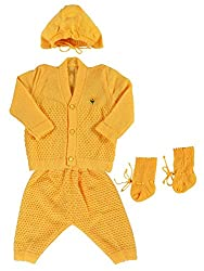 Woollen Sweater Full Suit (0-6 Months) (Mango)