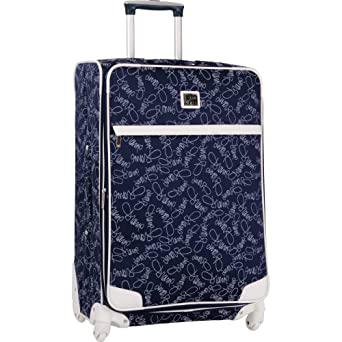 Diane Von Furstenberg Luggage Color On The Go 28 Inch Expandable Spinner, Navy/White, One Size