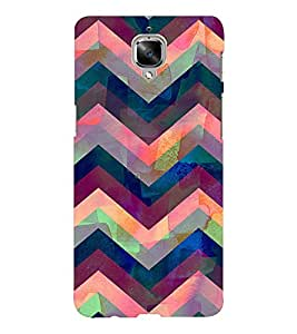 EPICCASE Angular Pattern case Mobile Back Case Cover For OnePlus Three (Designer Case)