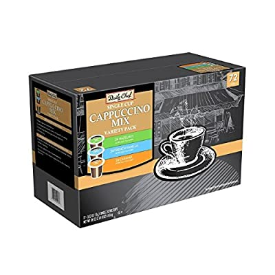 Daily Chef Cappuccino Single Serve Coffee Variety Pack (72 K-Cups) by Daily Chef