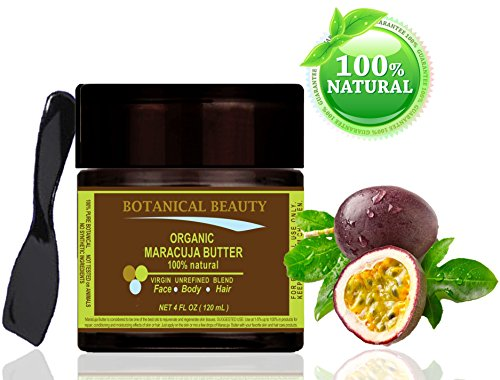 "Organic Maracuja Butter 100 % Natural / 100% Pure Botanicals. 4 Fl.Oz.- 120 Ml. For Skin, Hair And Nail Care. ""One Of The Butters With The Highest Content Of Essential Fatty Acids, Vitamin C, Calcium And Phosphorus."" By Botanical Beauty."