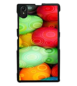 Fuson Premium Colorful Sphericals Metal Printed with Hard Plastic Back Case Cover for Sony Xperia Z1 L93h