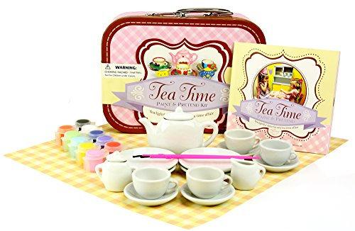 Spicebox Tea Time Paint & Pretend Toy (Make Your Own Tea Set compare prices)