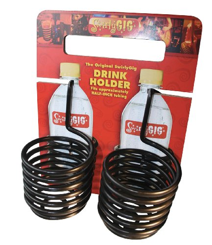 Swirlygig Sg1200 Ii Drink Holder For 1 Tubing, Black 2-Pack
