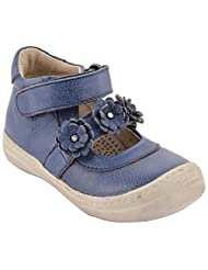 Little Feet Girls' Leather Navy Blue Blue Casual Shoes