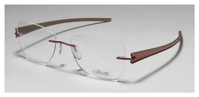 Amazon.com: Silhouette 4311 Mens/Womens Designer Rimless Titanium ...