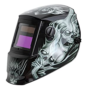 Antra AH6-260-6218 Solar Power Auto Darkening Welding Helmet with AntFi X60-2 Wide Shade Range 4/5-9/9-13 with Grinding Feature Extra lens covers Good for Arc Tig Mig Plasma CSA/ANSI Certified By Colts Lab from Antra