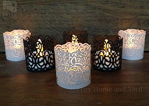Flameless Tea Light Votive Wraps 48 Copper Colored Laser