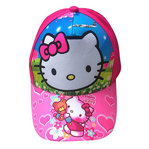 Beaches-Fashions-Hello-Kitty-Pink-Adjustable-Baseball-Cap-Hat-For-Baby-Girls