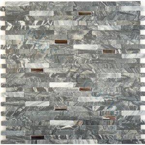 stone mosaic tile backsplash cream white amp black marble 12 034 x12