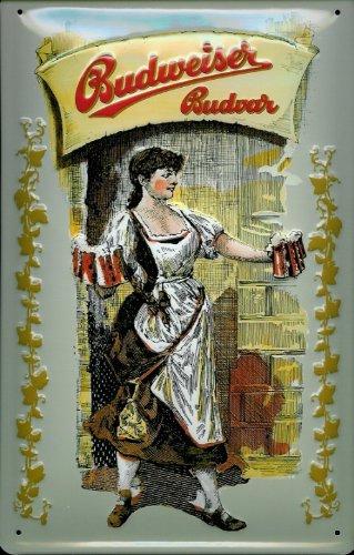 blechschild-budweiser-bier-beer-kellnerin-schild-nostalgieschild-retro-bierwerbung