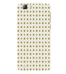 ifasho Modern Art Design animated cloth Pattern of flower Back Case Cover for VIVO V1