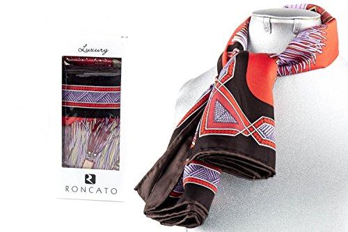 Foulard cuadrado RONCATO mujer in box regalo fantasía rojo particular L1215