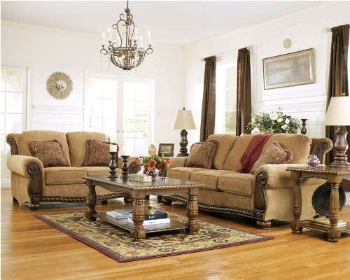 Buy Low Price AtHomeMart Amber Sofa, Loveseat, Chair, and Ottoman Set (ASLY5970138_5970135_5970121_5970113_4PC)