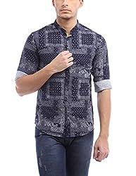 Bandit Navy Casual slim Fit Shirt