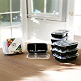 The Smart Box - Tupperware Containers - Reusable Bento Box And Meal Prep Containers With Compartments. Reusable, BPA Free, Microwave Dishwasher Freezer Safe 8 PACK