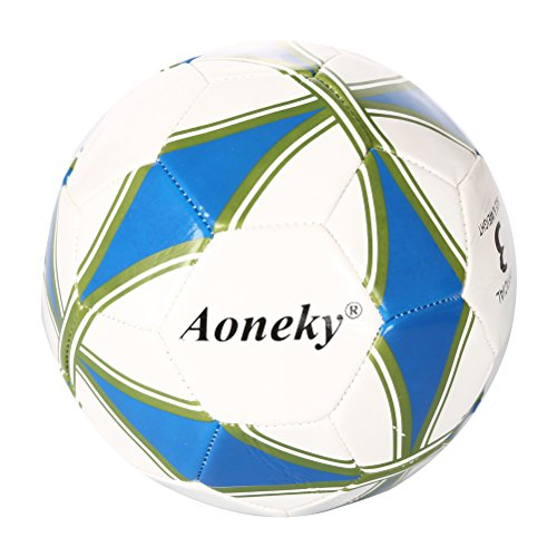 Aoneky Kids Soccer Ball Size 3 - Ball Pump Included - Children Playground Ball - Toy Soccer for Boys Aged 3 - 8 Years Old (Soccer Balls Package compare prices)