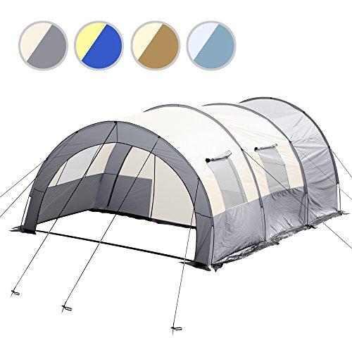 Jago Tenda da campeggio camping tenda tunnel ca. 335/476/190 cm colore grigio