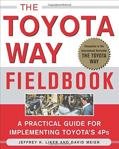 Pdf Online The Toyota Way Fieldbook By Jeffrey Liker David Meier