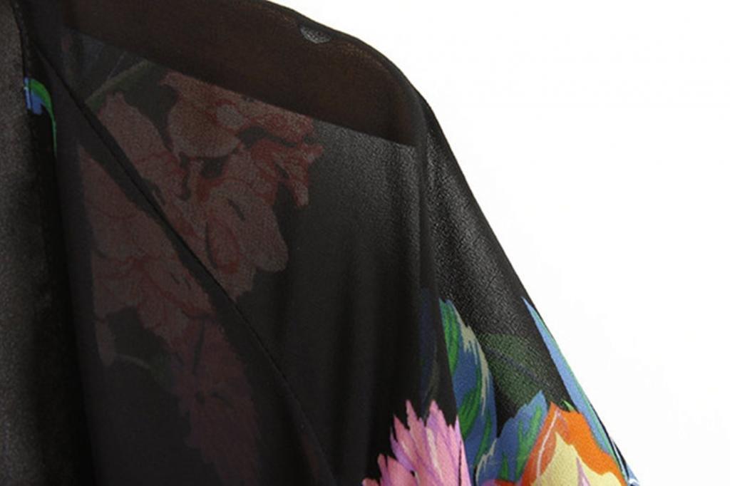 Kamaco Women Vintage Retro Ethnic Floral Tassels Loose Kimono Cardigan Coat Shawl 5