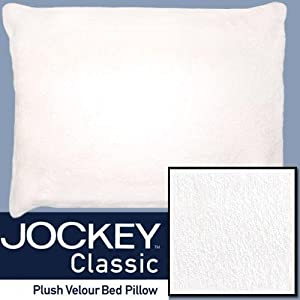 Jockey Classic Plush Velour Bed Pillow