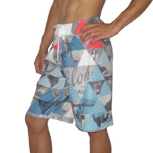 Mens Rip Curl BLAZER Skate & Surf Boardshorts Board Shorts - Multicolor (Size: 38)