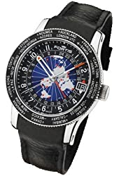 Fortis Mens Watch Aviation B-47 World Timer GMT Limited Edition Automatic 674.21.11 L01
