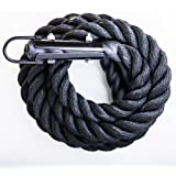 GYM Climbing Rope Black Poly Dac/ Free Shipping