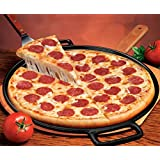 Cast Iron Pizza Pan -14 Inch- Makes Amazing Golden Crust Pizza -Better than Ceramic or Stone Baking