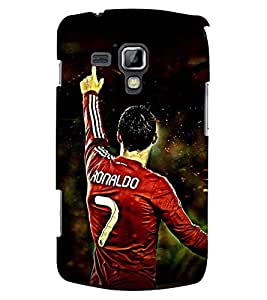 Printvisa Footballer In Aggression Back Case Cover for Samsung Galaxy S Duos 2 S7582