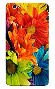Omnam Colorful Pattern Printed Designer Back Cover Case For Gionee S6