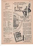 Kellogg's Corn Soya Cereal A Fine Body Child 1951 Farm Antique Advertisement