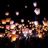 10 PCS Sky Lanterns Wishing Lantern - White