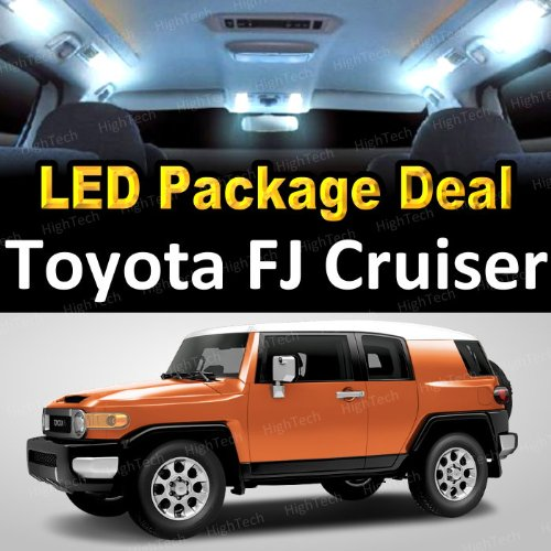 Led Interior Package Deal For 2008 Toyota Fj Cruiser (6 Pieces), White